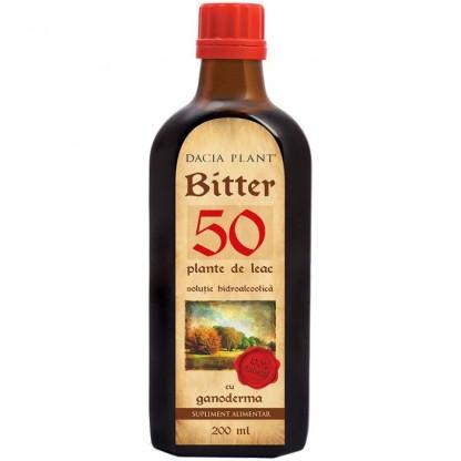 Bitter 50 plante de leac cu ganoderma 200ml Dacia Plant