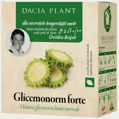 Ceai glicemonorm (mentine glicemia in limite normale) 50g Dacia Plant