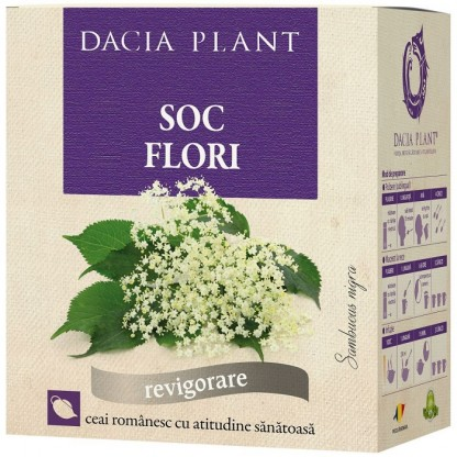 Ceai flori de soc 50g Dacia Plant