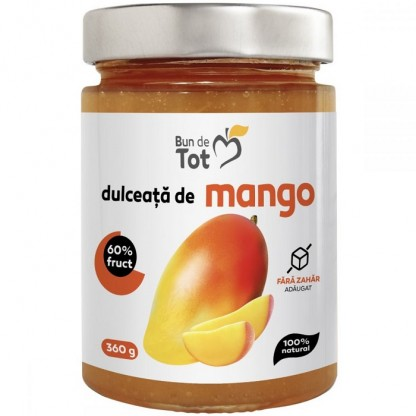 Bun de Tot - Dulceata de mango fara zahar 360g Dacia Plant