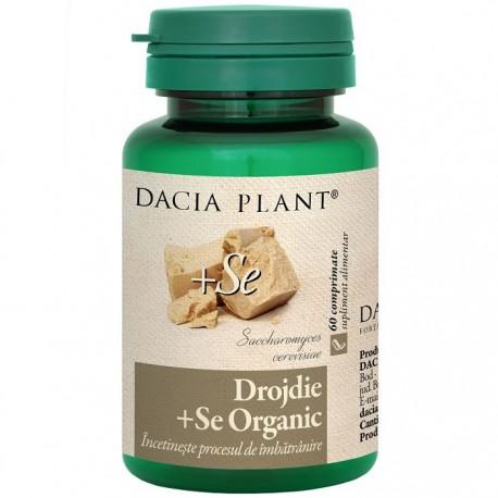 Drojdie cu Seleniu Organic 60 comprimate Dacia Plant