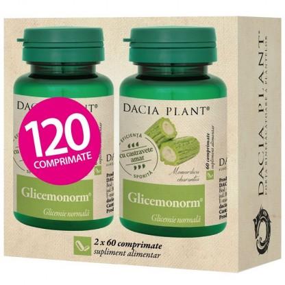 Pachet Glicemonorm (glicemie normala) 60 comprimate 1+1 Cadou Dacia Plant