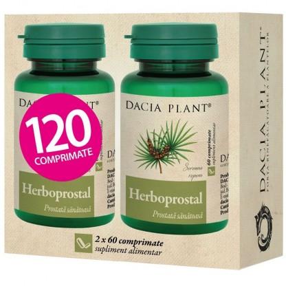 Pachet Herboprostal (prostate sanatoasa) 60 comprimate 1+1 Cadou Dacia Plant