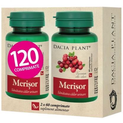 Pachet Merisor (sanatatea cailor urinare) 60 comprimate 1+1 Cadou Dacia Plant