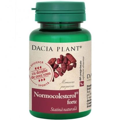 Normocolesterol forte (statina naturala) 60 comprimate Dacia Plant