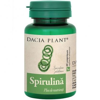 Spirulina (plus de nutrienti) 60 comprimate Dacia Plant