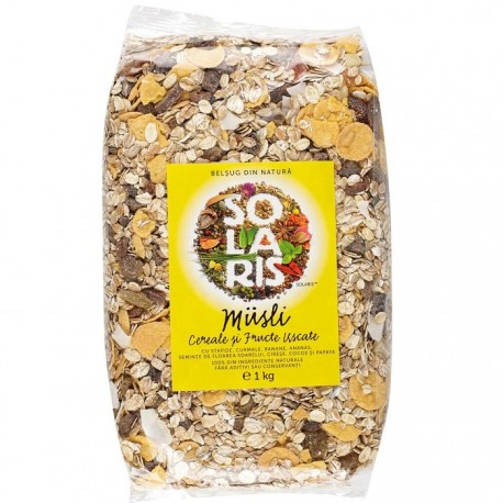 Musli natural din cereale si fructe uscate 1 kg Solaris Plant