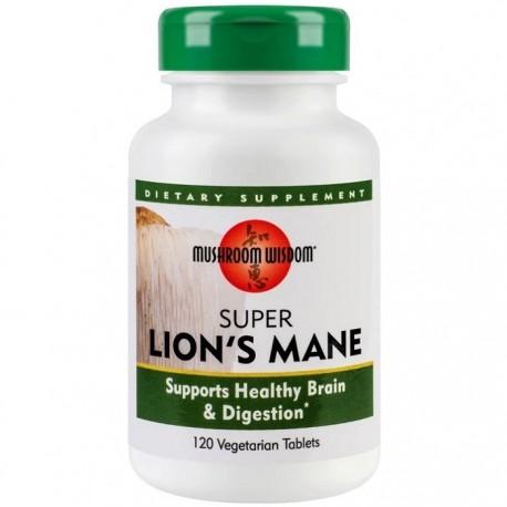 Super Lion's Mane (ciuperca medicinala) 120 tablete Mushroom Wisdom