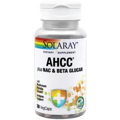 AHCC plus NAC & Beta Glucan 30 capsule vegetale Solaray