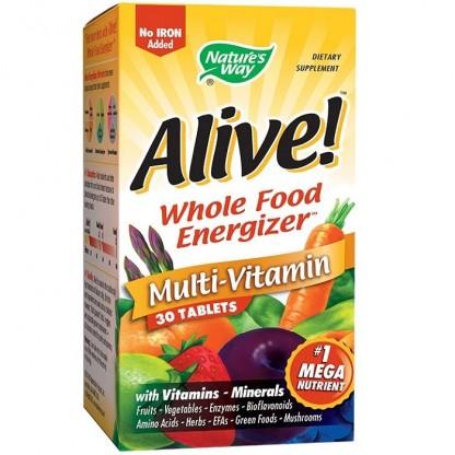 Complex de vitamine si minerale Alive (fara fier adaugat) 30 tablete Nature's Way