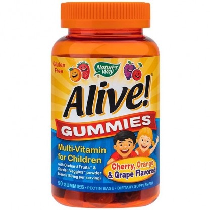 Alive Gummies Multi-Vitamine pt Copii 90 jeleuri Nature'S Way