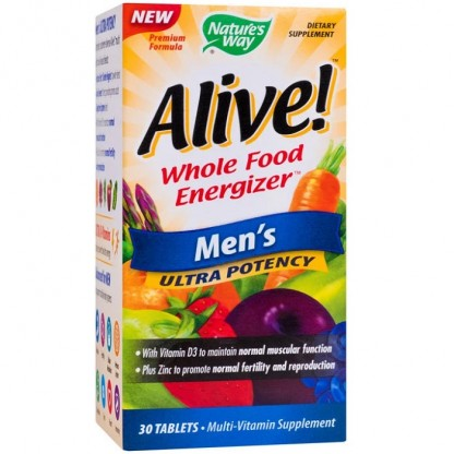 Alive Men Ultra (necesar de energie) 30 tablete Nature'S Way