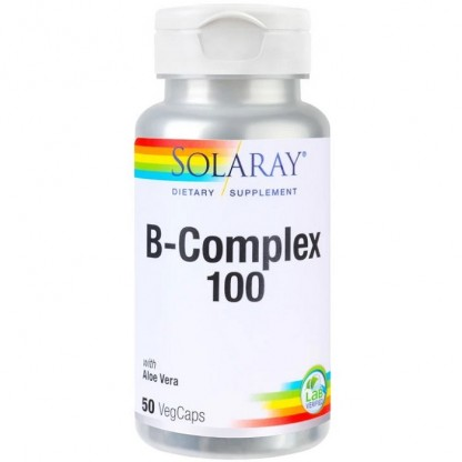 B-Complex 100mg 50 capsule vegetale Solaray
