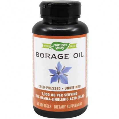 Borage Oil (Limab mielului) 1300mg 60 capsule gelatinoase moi Nature's Way