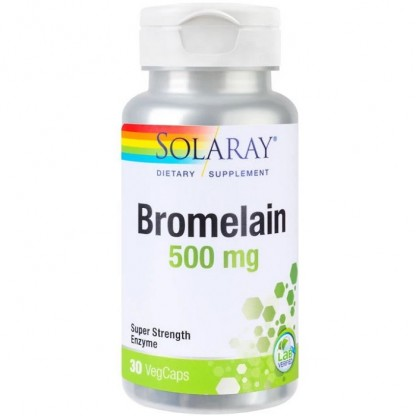 Bromelain 500mg 30 capsule vegetale Solaray
