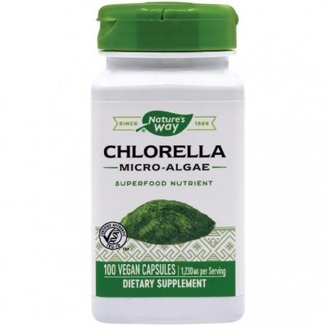 Chlorella Micro-algae 410mg 100 capsule vegetale Nature's Way