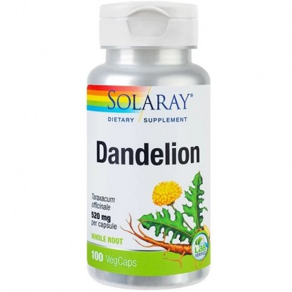Dandelion (Papadie) 520mg 100 capsule vegetale Solaray