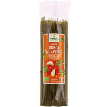 Spaghetti cu quinoa, usturoi si patrunjel BIO 500g Primeal