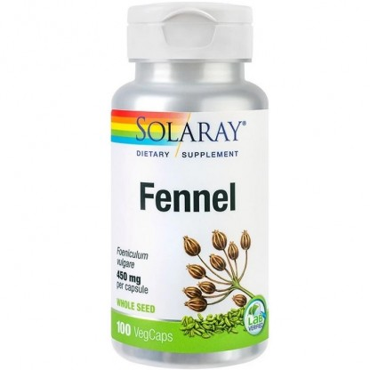 Fennel (Fenicul) 450mg 100 capsule vegetale Solaray