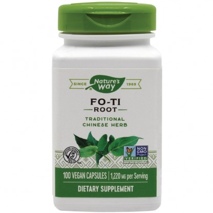 Fo-Ti (adaptogen, imunostimulent) 610mg 100 capsule vegetale Nature's Way