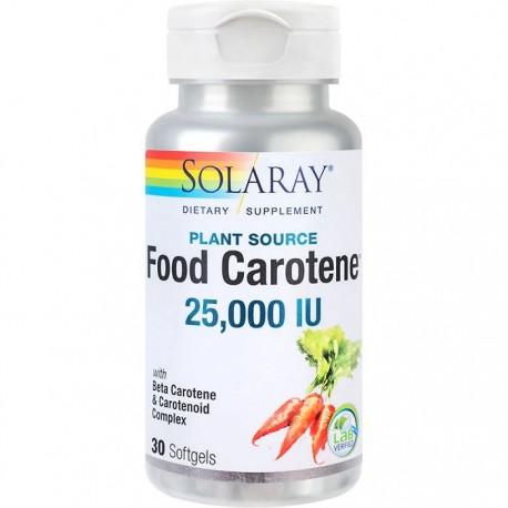 Food Carotene 25000UI 30 capsule moi Solaray