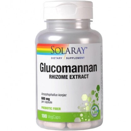 Konjac Glucomannan 600mg 100 capsule vegetale Solaray