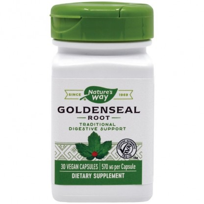 Goldenseal (suport digestiv) 570mg 30 capsule vegetale Nature's Way