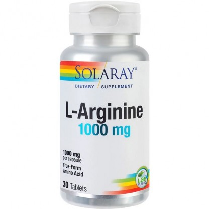 L-Arginine 1000mg 30 tablete RapidSolv Solaray