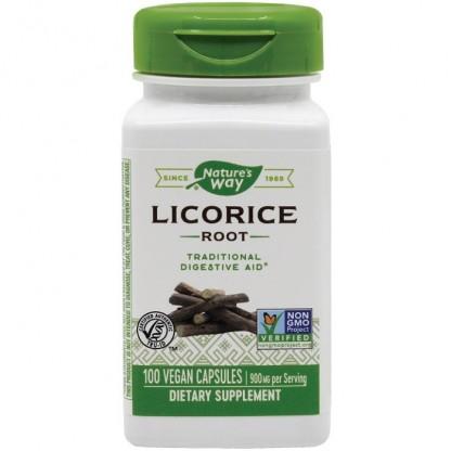 Licorice (Lemn-dulce) 450mg 100 capsule vegetale Nature's Way
