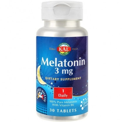Melatonina 3mg 30 tablete cu eliberare prelungita Kal