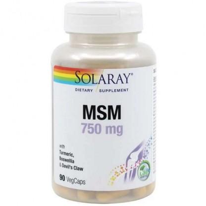 MSM 750mg 90 capsule vegetale Solaray