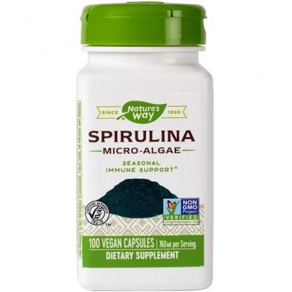 Spirulina Micro-Algae 380mg 100 capsule vegetale Nature's Way