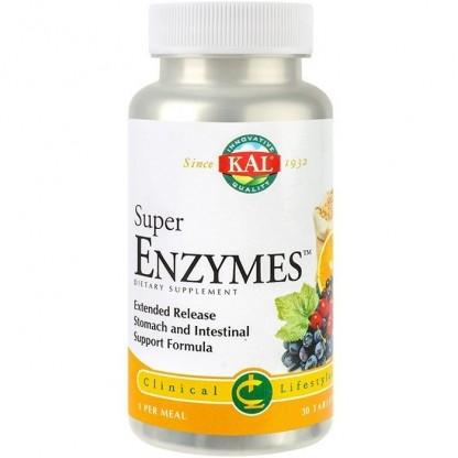 Super Enzymes 30 tablete cu eliberare prelungita (Bi-Layer) Kal