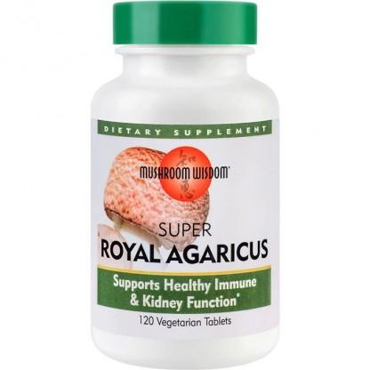 Super Royal Agaricus 120 tablete vegetale filmate Mushroom Wisdom