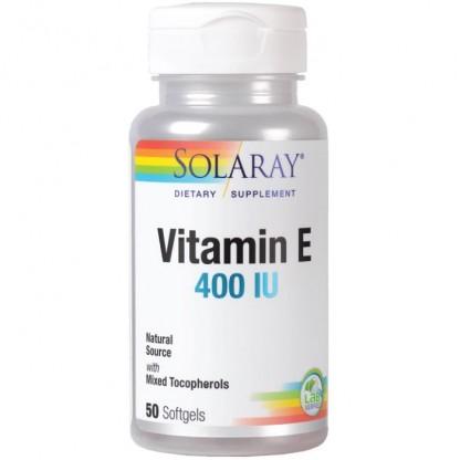Vitamina E 400 UI 50 capsule moi Solaray