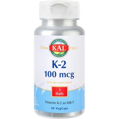 Vitamina K-2 (protectie osoasa) 100mcg 30 capsule vegetale Kal