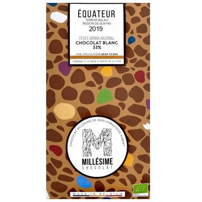 Ciocolata alba belgiana, artizanala, Equateur eco 70g Millesime
