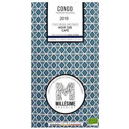 Ciocolata belgiana artizanala cu cafea, Congo eco 70g Millesime