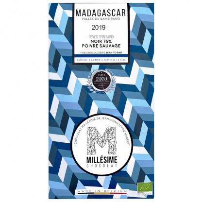 Ciocolata belgiana artizanala cu piper salbatic, Madagascar eco 70g Millesime