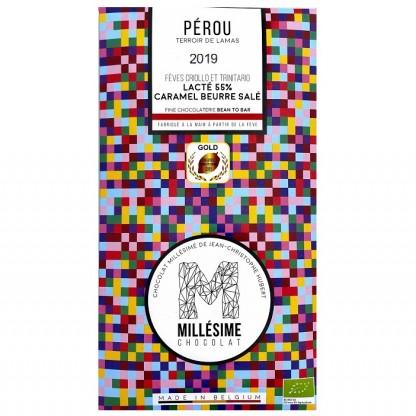 Ciocolata belgiana artizanala Salted Caramel, Perou eco 70g Millesime