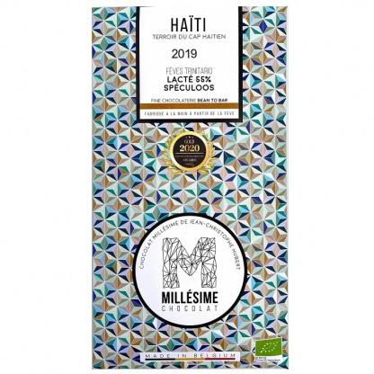 Ciocolata belgiana artizanala Speculoos, Haiti eco 70g Millesime