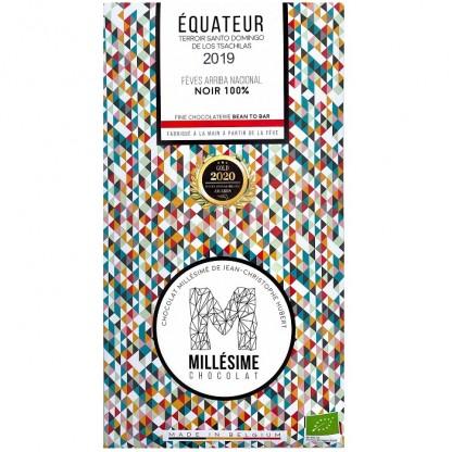 Ciocolata neagra 100%, belgiana, artizanala, Equateur eco 70g Millesime