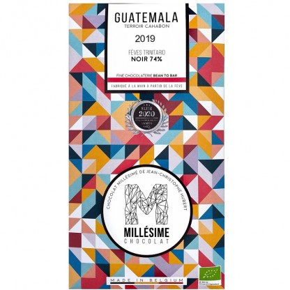 Ciocolata neagra 74% belgiana, artizanala, Guatemala eco 70g Millesime