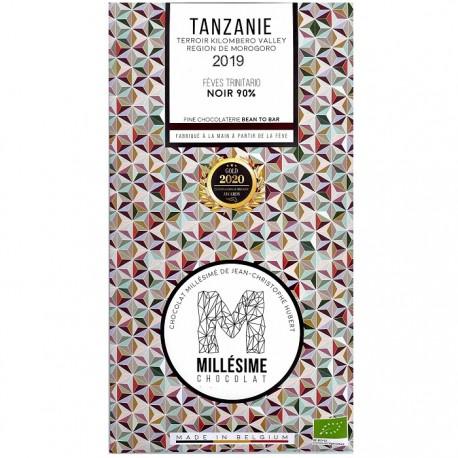 Ciocolata neagra 90% belgiana, artizanala, Tanzanie eco 70g Millesime