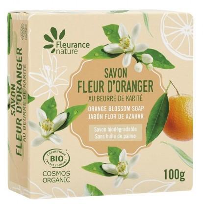 Sapun cu unt de shea și parfum de flori de portocal 100g Fleurance Nature