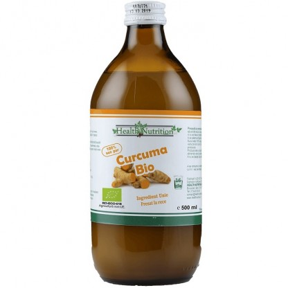 2+1 gratis Suc 100% pur Curcuma BIO 500ml Health Nutrition