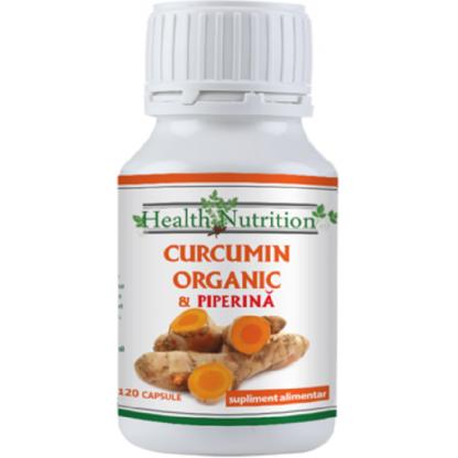 Curcumin Organic cu Piperina 120 capsule Health Nutrition