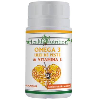 Omega 3 ulei de peste 500 mg + Vitamina E 5mg, 60 capsule moi Health Nutrition