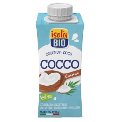 Crema bio din nuca de cocos pentru gatit Isola Bio 200ml (fara lactoza, fara gluten)