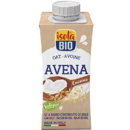 Crema bio din ovaz pentru gatit Isola Bio 200ml (fara lactoza)